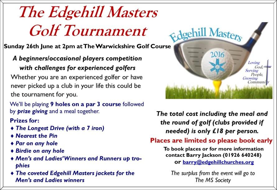 2016 Golf Masters Flyer