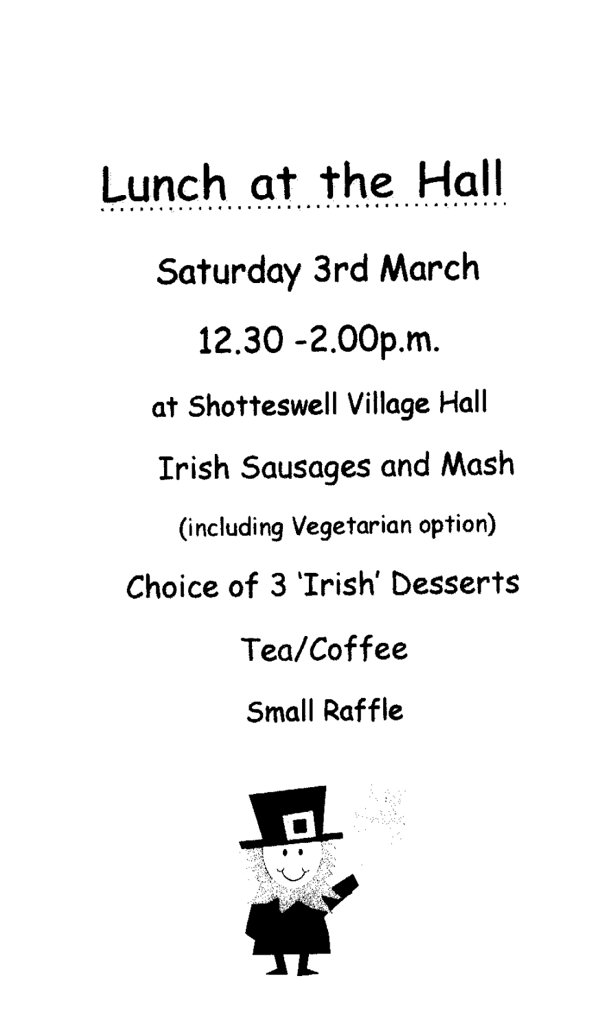SVH Lunch at the Hall 03.03.18